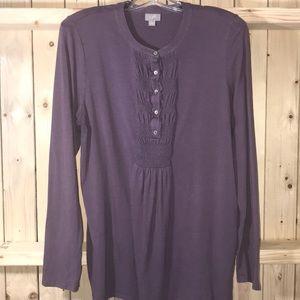 J.Jill purple long sleeve blouse Large